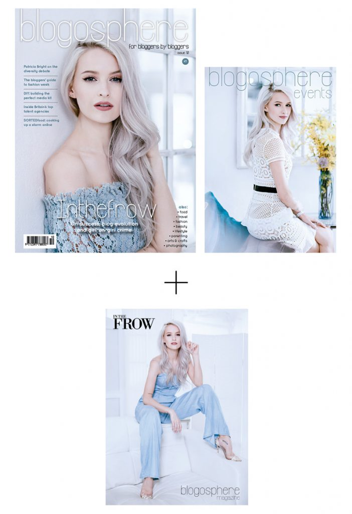 Blogosphere Magazine Issue 10 featuring interviews with Inthefrow, Patricia Bright and Callie Thorpe.